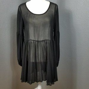 Lulu's Size M Dress Swim Cover Up Sheer LS